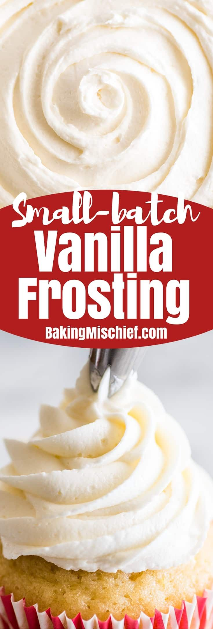 This is the perfect Small-batch Vanilla Frosting recipe. It's rich, delicious, and so easy to make. | #frosting | #smallbatch | #dessert |