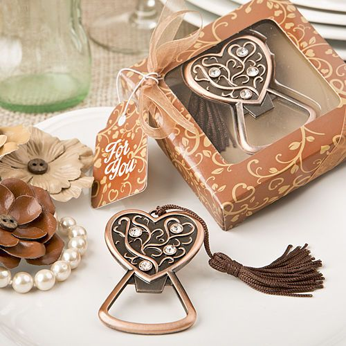 find antique copper heart bottle opener from with quantity discounts here along with other wedding favors and shower gifts
