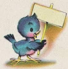 Image result for BLUEBIRDS + VINTAGE VALENTINE CARDS