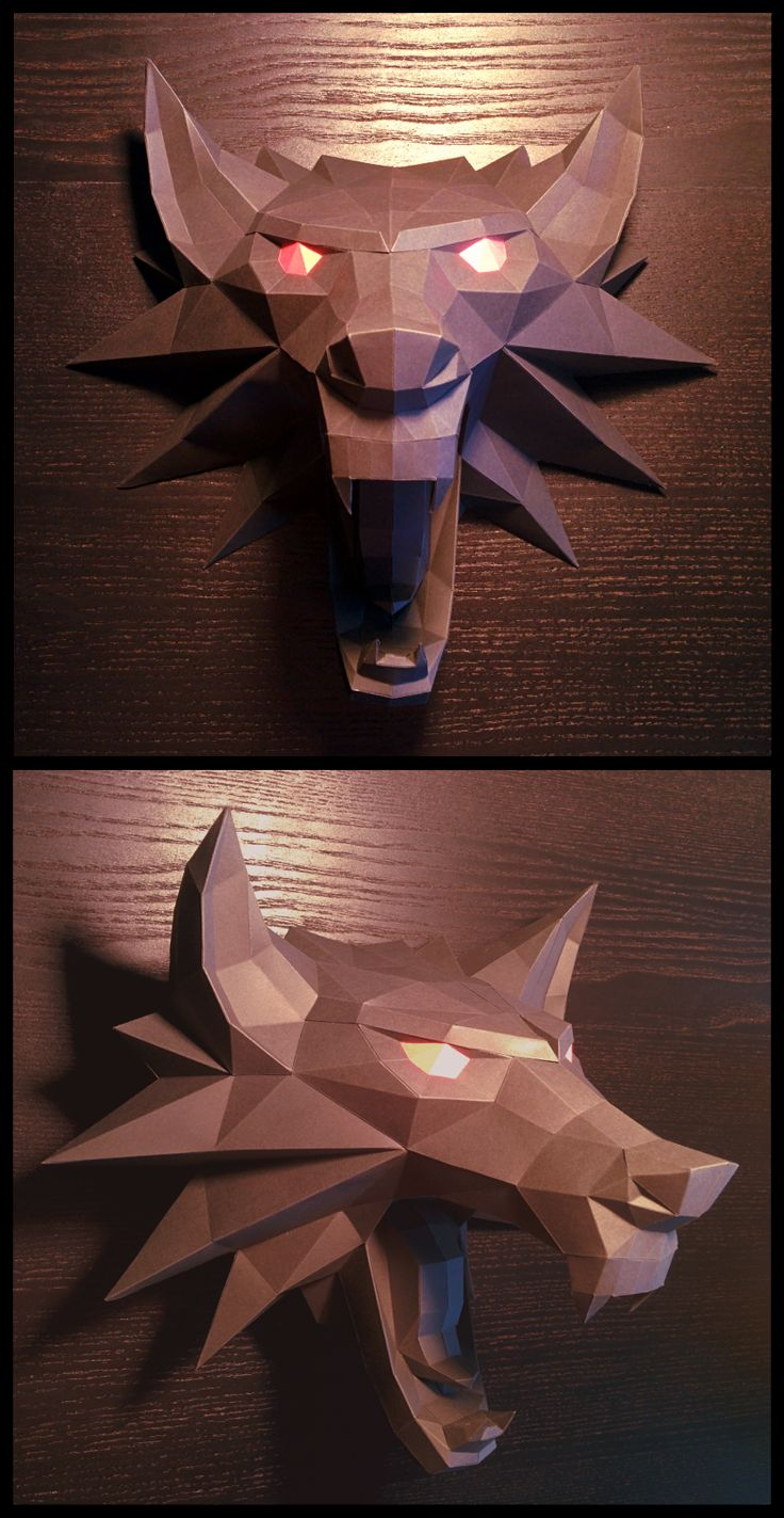 Witcher Medallion Papercraft by Gedelgo.deviantart.com on @DeviantArt