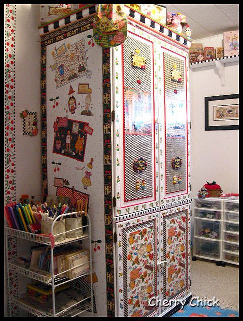 Mary Engelbreit inspired Office/Workshop Redo by Cherry Chick Jewelry, via Flickr