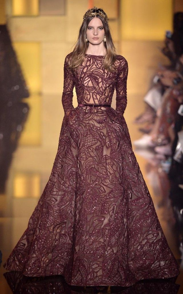 Elie Saab AW15 collection, haute couture dress, red carpet dress, beautiful evening gown.