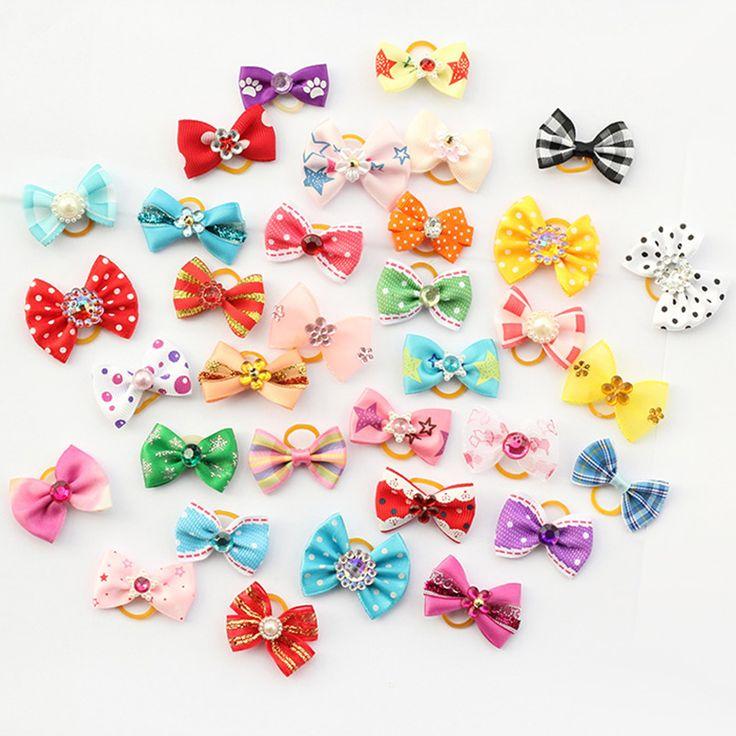 Armi shop 20 Stücke Handmade Pet Grooming Zubehör Produkte Hund Bogen 6011026 Haar Kleine Blume Bögen Für Hunde Charms Geschenk