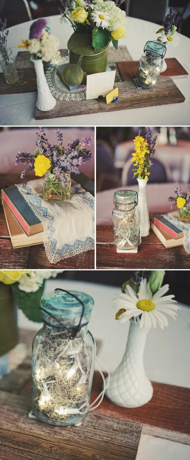 17 best images about vintage glass for wedding decor on Simple flower decoration ideas