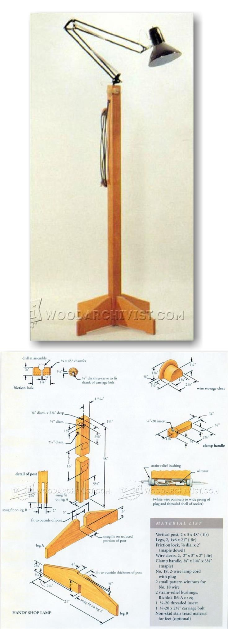 Handy Workshop Lamp - Workshop Solutions Projects, Tips and Tricks | WoodArchivist.com