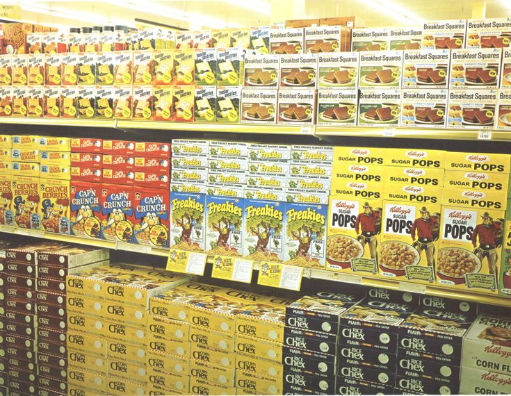 Cereal aisle in the 70's - Oh man I soooo remember the Corp Pops Cowboy - I think he's one of the reasons I loved that ceral so much!! :)