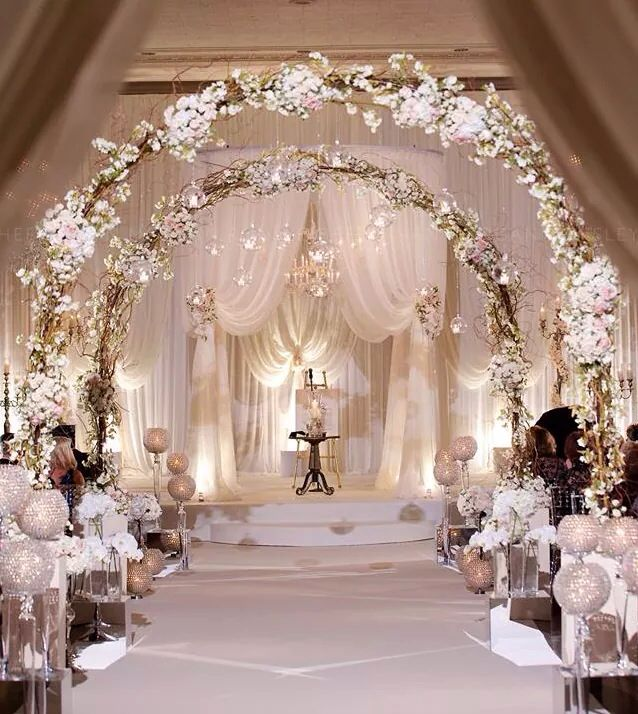 Soft and elegant wedding decor uniquely yours bridal for Wedding event decorators
