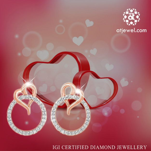 Design Of The Day..... ATJewel Presents Beautiful Heart Diamond Earrings For You at Best Prize.Shop Now #ATJewel #Diamonds #Earrings #HeartCollection http://bit.ly/2f1Irf0