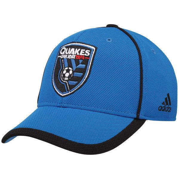 * Men's San Jose Earthquakes adidas Blue Cut and Sew Structured Adjustable Hat, Your Price: $24.99