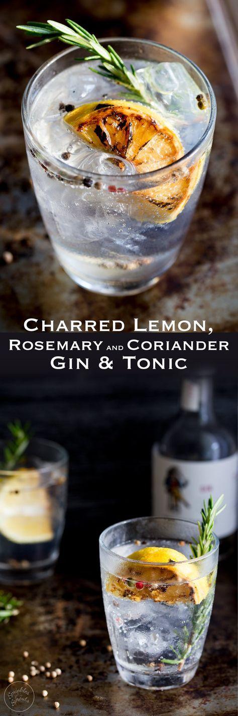 Charred Lemon, Rosemary and Coriander Gin & Tonic