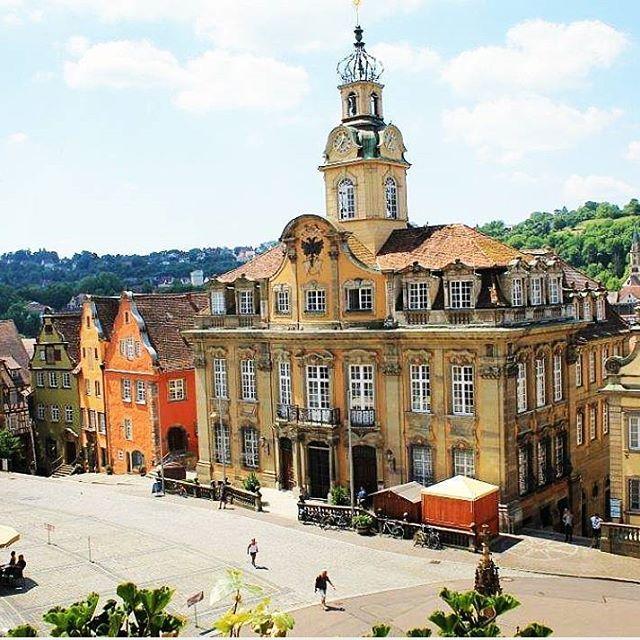#Stadt #City #SchwäbischHall #Marktplatz #Rathaus #wonderful #best #weather #summer #beautiful