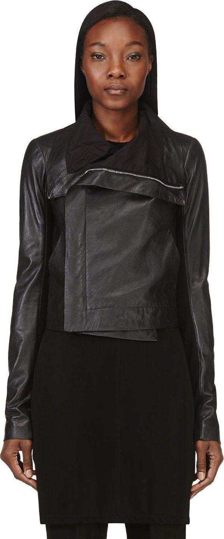Rick Owens - Black Lambskin Jacket