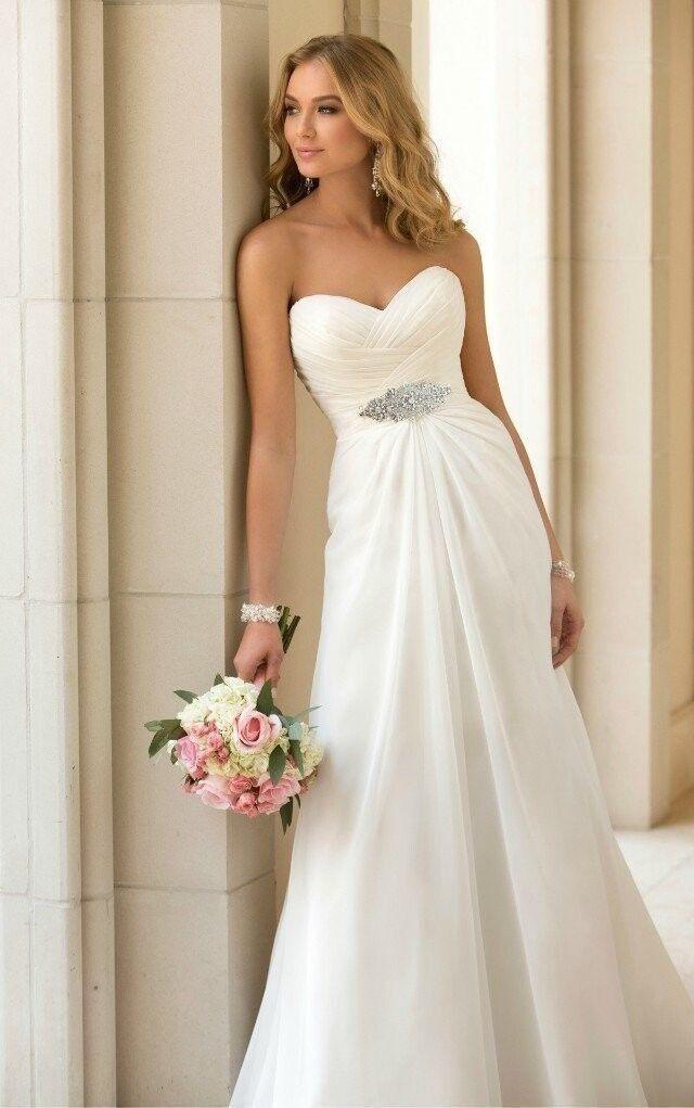 robe de mariée fluide en mousseline