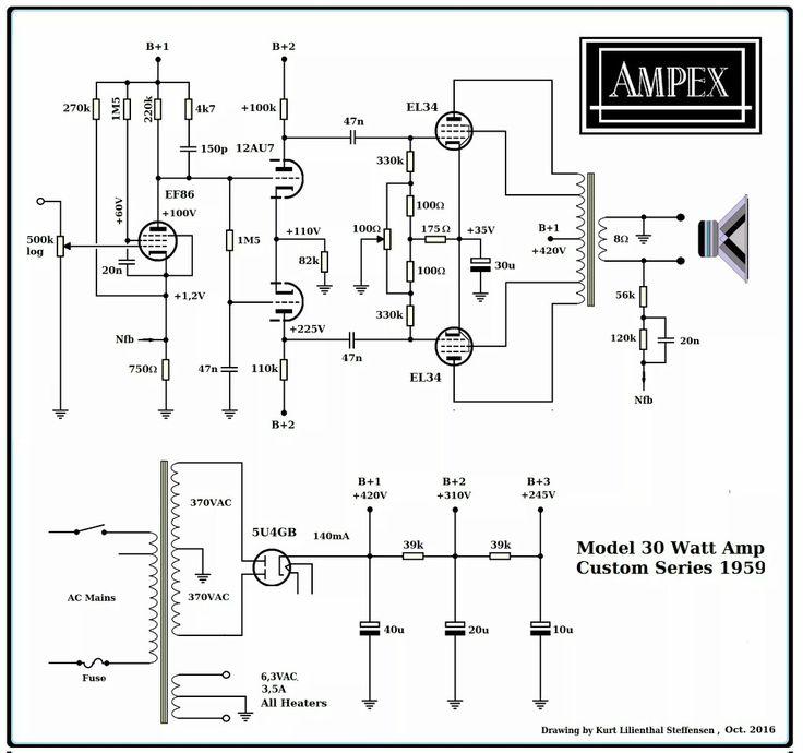 audio mixer lifier schematics