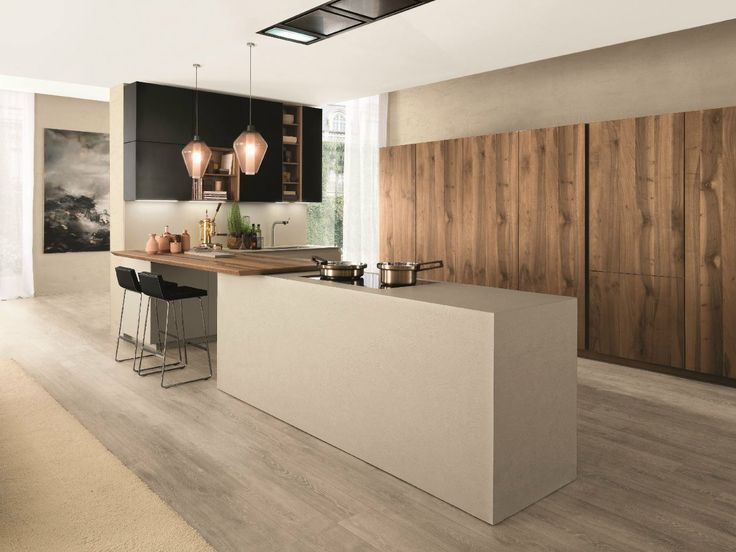 Fitted kitchen with island FILOANTIS by Euromobil | design Roberto Gobbo
