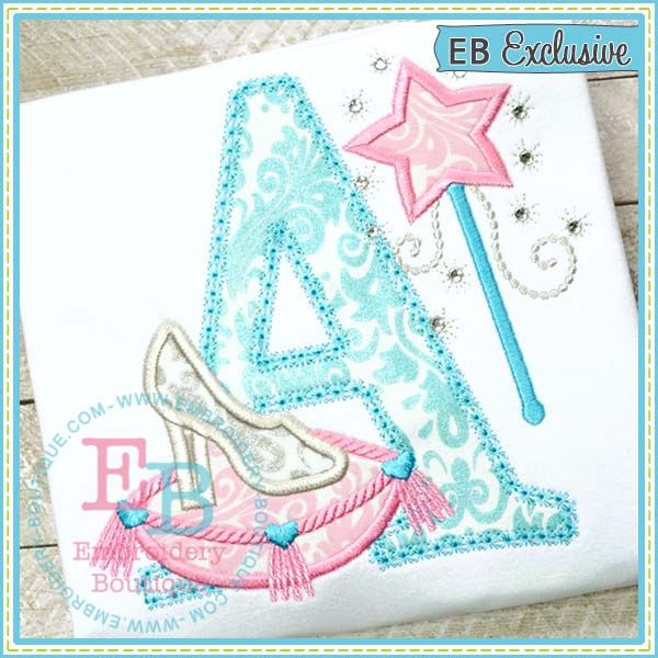 Glass Slipper Applique Alphabet