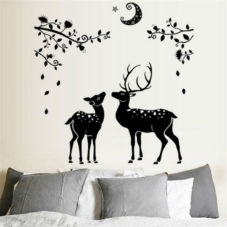 Christmas deer wall art vinyl decor for home wall and window decor for decoration 161103005