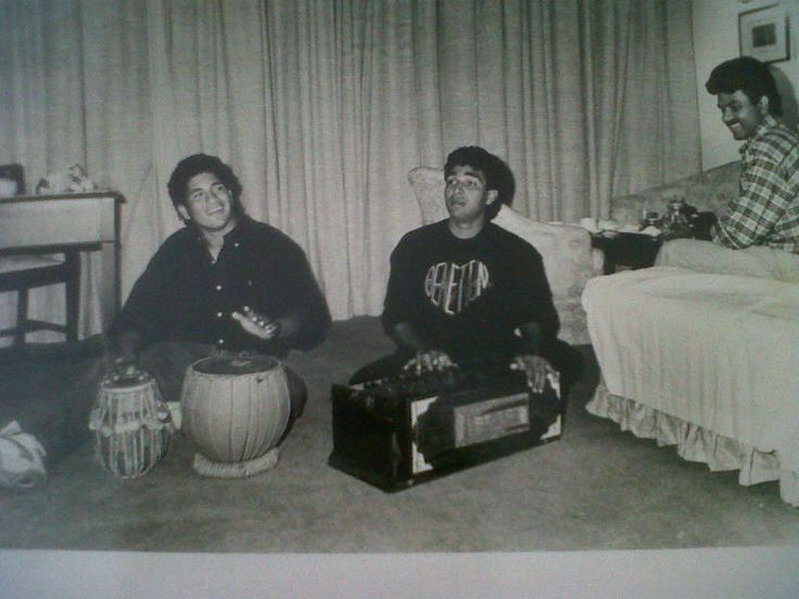 SACHIN AND CO. ON SONG: From the looks of it, Sachin Tendulkar plays more than just cricket. Here is a shot of him playing the tabla. This photograph is from Sanjay Manjrekar's album. Thanks for the memories, old boy!
