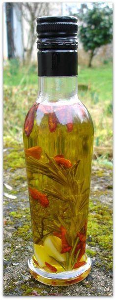 Un dimanche a la campagne: L'huile pimentée, faites la vous-même!