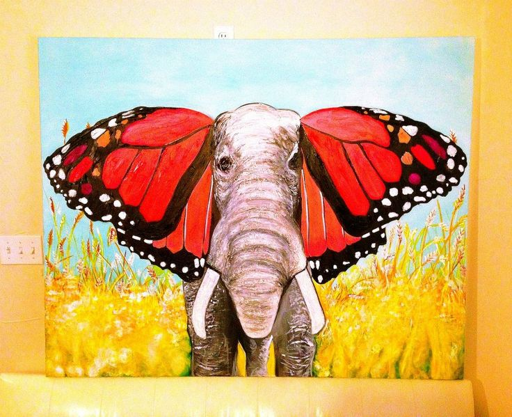 painted elephant butterfly - photo #3