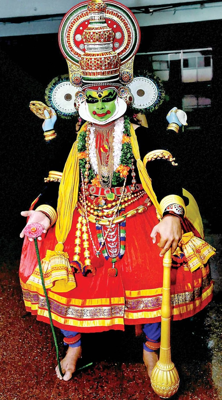 Fast bowler S Sreesanth all decked up for 'Krishnattam', a devotional dance-drama, at the Sri Krishna Temple in Guruvayoor, Kerala, on Thursday evening. Krishnattam presents the story of Lord Krishna in a series of eight plays. Sreesanth was, on Friday, dropped from the BCCI's list of centrally contracted players