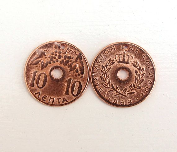 Greek Coins 10 Cents Rose Gold Coin Replica 10 pcs by HabitHobby
