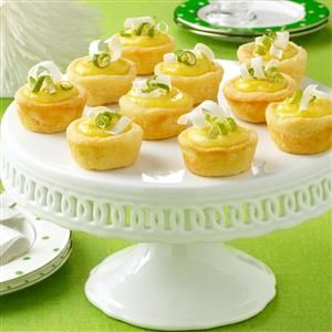 Lime Divine Tarts Recipe -Winter is prime time for limes, so why not showcase them at your holiday party? These cute cups are impressive but easy to make. —Ann Yri, Lewisville, Texas