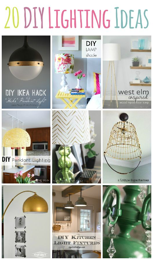 Superior 20+ DIY Lighting Ideas   Light Fixtures, Lamps, And More!