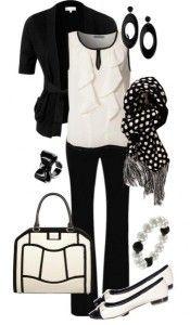beyaz-siyah-pantolon-kombin-modeli-351x600 By Maria Elena