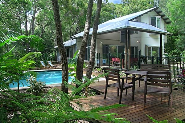 """Strandhaus - Rainbow Beach, Sunshine Coast and Hinterland - """"It is easy to see why the Strandhaus was named as one of the 100 Great Australian Holiday Homes by Australian Traveller. It combines a classic rainforest and beachfront location with magnificent architect-designed proportions and a truly sympathetic integration with the surrounding coastal bushland. """""""