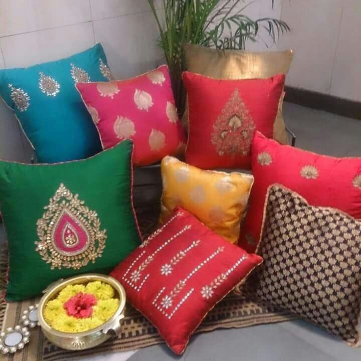 Silk cushion covers by STUTEE