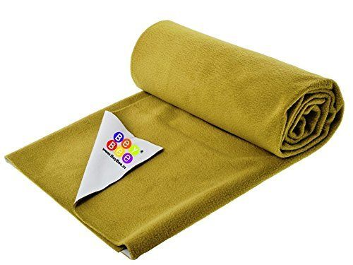 """Bey Bee - Quick Dry Soft Cosy Waterproof Mattress Protector Reusable Mat / Underpad / Absorbent Sheets (Size: 220cm x 140cm) / (86""""x56"""") Golden, Extra large {Single Bed}"""