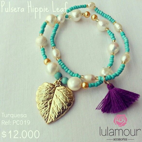 Hippie Leaf Bracelet. More on @lulamourr on instagram And Lulamour Accesorios on Facebook. Colombian brand