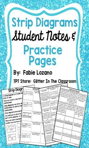 intro to strip diagrams student notes \u0026 practice pages tape diagrams