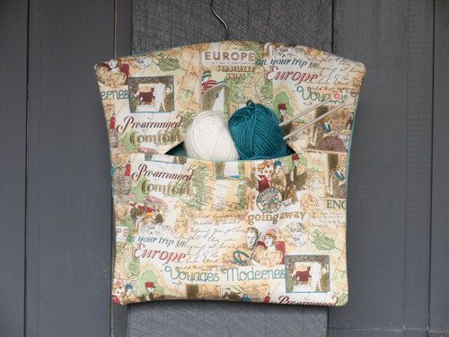 Fabric handmade European vintage travel themed peg by freshdarling