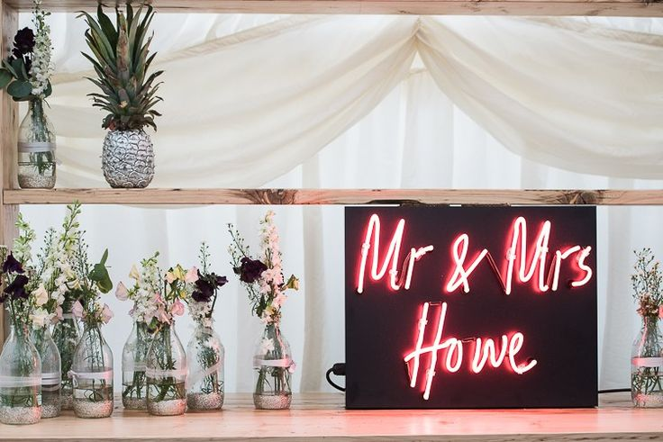 Custom Personalised Neon Sign Palms Pineapples Marquee Garden Wedding http://www.weddingphotography-ah.com/