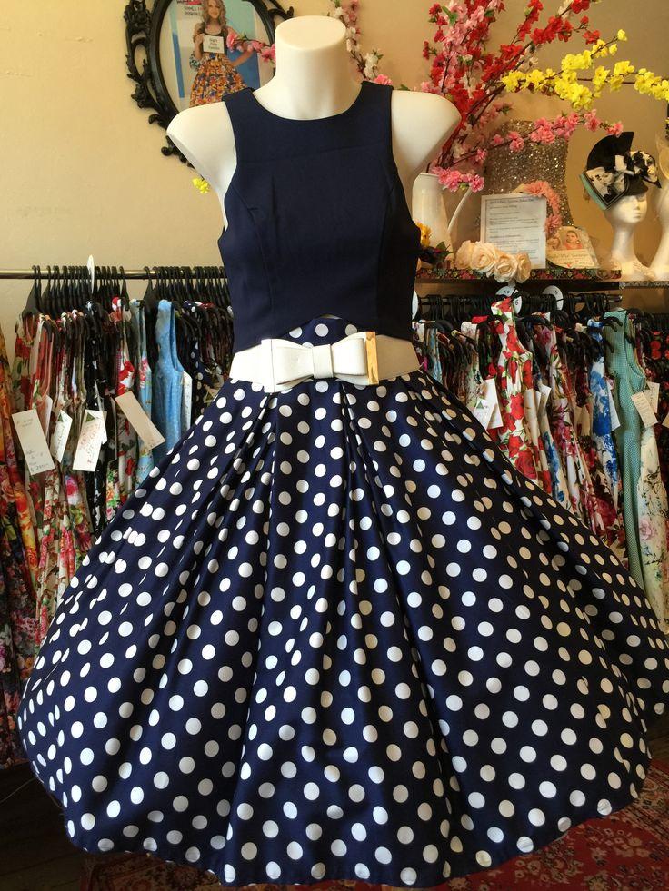 Navy Spot Double Box Pleated Skirt – GiGi's Fairy Fashion