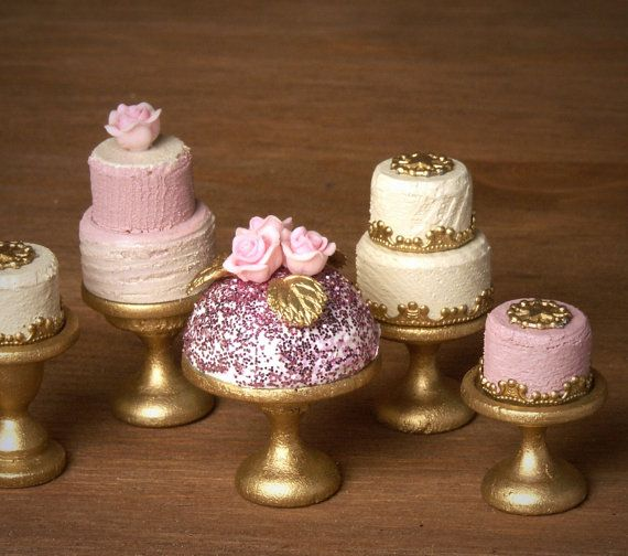 Shimmering Party Dome Cake for your Dollhouse by DinkyWorld
