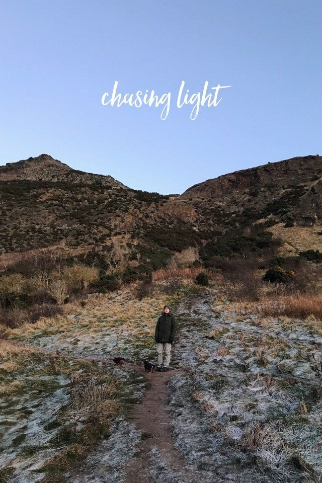 Chasing light - Sunday's walk at Arthur's Seat, in the most beautiful midwinter light, on @stellerstories