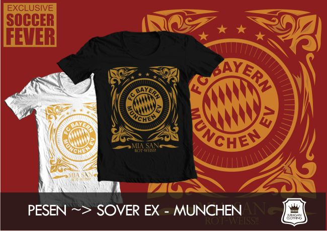 "Kaos BAYERN MUNCHEN ""MIA SAN ROT-WEISS"" [READY STOCK] @BolaBolatshirt"