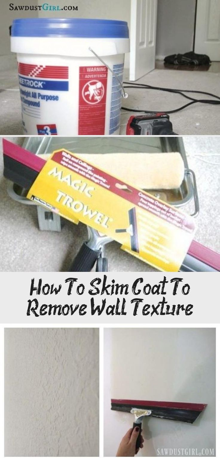 How to skim coat to remove wall texture in 2020 textured