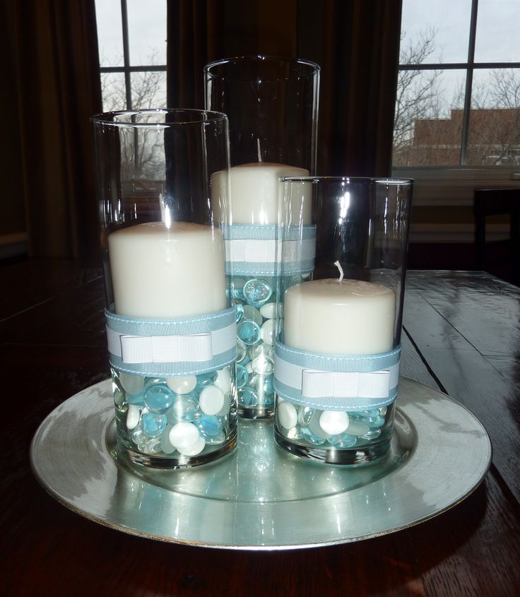 25 best ideas about boy baptism centerpieces on pinterest for Baby dedication decoration