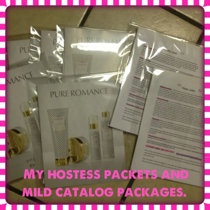 my hostess packets and mild catalog hand outs