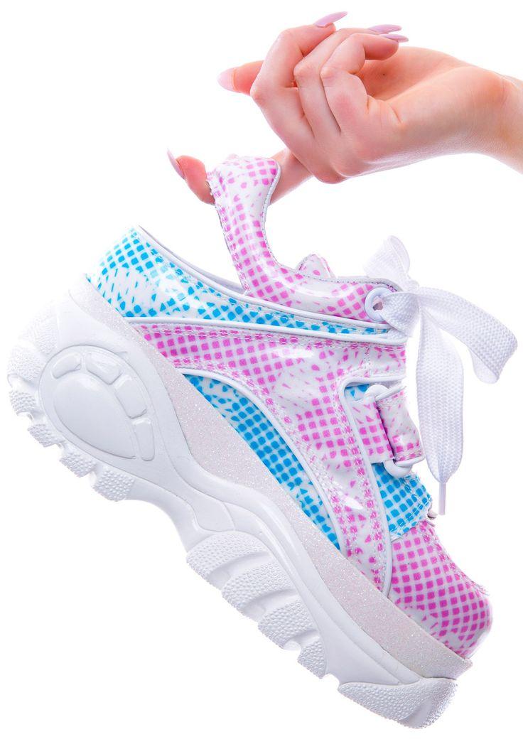 Maria ke Fisherman X Buffalo Platform Sneakers   Dolls Kill Ridiculous price but ultra sweet