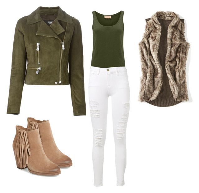 """""""Sin título #117"""" by damarislondon on Polyvore featuring moda, American Vintage, Versus, Vince Camuto, Frame Denim y maurices"""