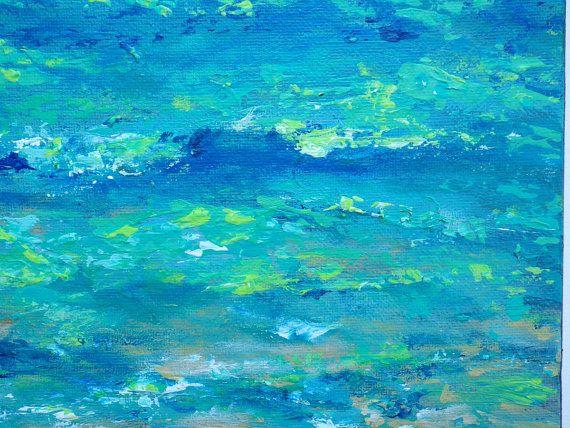 Playa de la pintura 12 x 12 cerca a costa azul por TheEscapeArtist