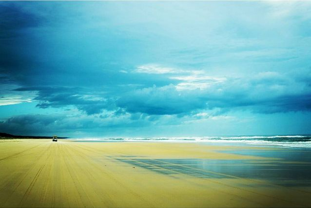 Fraser Island is the largest sand island in the world. It's got rain forests, fresh lakes, creeks and a vast coastline. It's as beautiful on a stormy day, as it's on a bright sunny day. #GrabYourDream #Australia #travel #adventure #FraserIsland