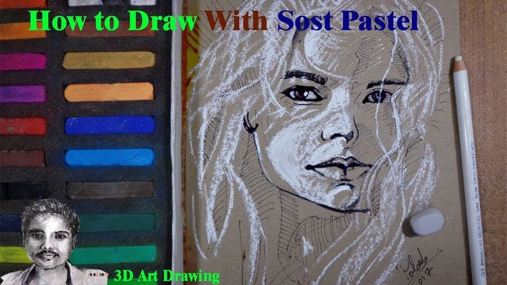 How to Draw Girl Face With Soft Pastel | Abstract Painting