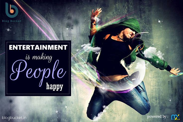 "#Entertainment is making people Happy. ""Entertainment"" The One word Say it all, Starting from a short video to a 3 hour movie, the category just help us reviewing all about the fun in fiction and smile from it. visit us on http://blogbucket.in/entertainment/ Like n Share our page- https://www.facebook.com/bloggingbucket/ Join Our Group - https://www.facebook.com/groups/bloggingbucket/"