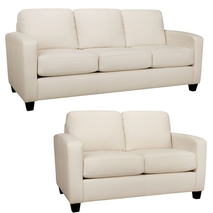 Ordinaire The Bryce White Italian Leather Sofa And Loveseat Are Handcrafted Using  Time Honored Old World